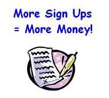 get guaranteed signups to your website